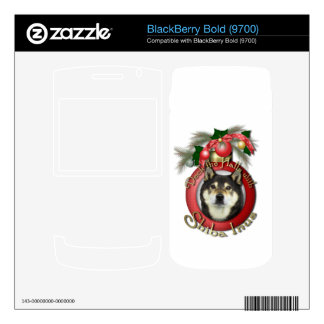 Christmas - Deck the Halls - Shiba Inu - Yasha BlackBerry Bold Decals