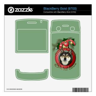 Christmas - Deck the Halls - Shiba Inu - Yasha BlackBerry Skins