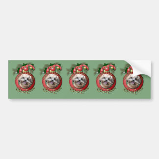Christmas - Deck the Halls - ShihPoos - Maggie Bumper Sticker