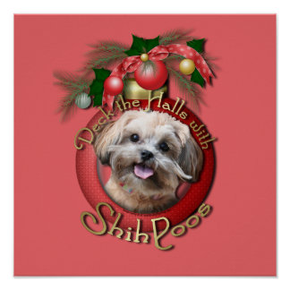 Christmas - Deck the Halls - ShihPoos - Maggie Posters