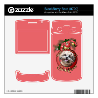 Christmas - Deck the Halls - ShihPoos - Maggie Decal For BlackBerry Bold