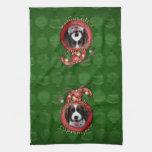Christmas - Deck the Halls Springer Spaniel Baxter Kitchen Towel