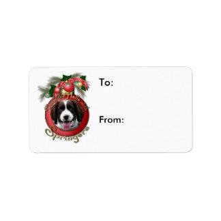 Christmas - Deck the Halls Springer Spaniel Baxter Label