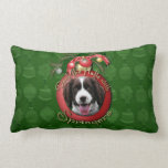 Christmas - Deck the Halls Springer Spaniel Baxter Throw Pillows