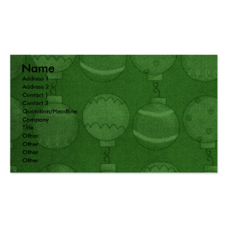Christmas - Deck the Halls - Swissies Business Card Template
