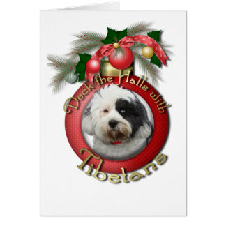 Christmas - Deck the Halls - Tibetans Card