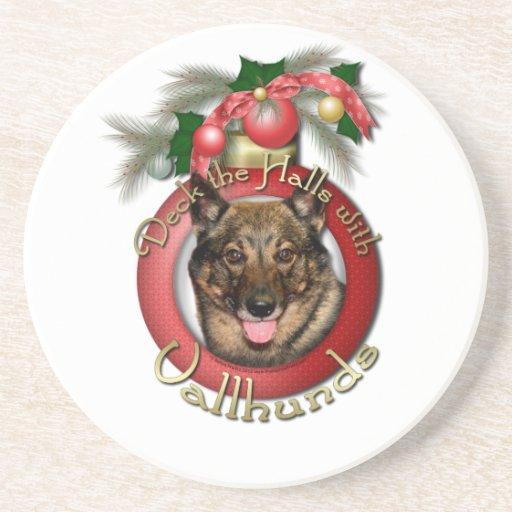 Christmas - Deck the Halls - Vallhunds Beverage Coasters