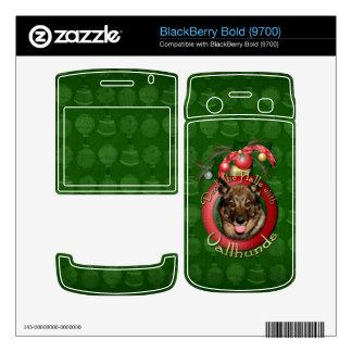Christmas - Deck the Halls - Vallhunds BlackBerry Bold 9700 Skin