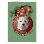 Christmas - Deck the Halls - Westies Card
