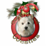Christmas - Deck the Halls - Westies Cut Out