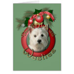 Christmas - Deck the Halls - Westies Greeting Card