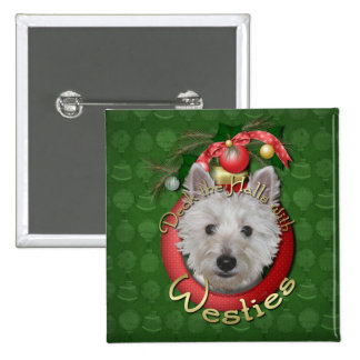 Christmas - Deck the Halls - Westies - Tank Pin