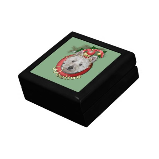 Christmas - Deck the Halls - Westies - Tank Gift Boxes