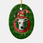Christmas - Deck the Halls - Whippets Ornament