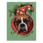 Christmas - Deck the Halls with Boxers - Marnie Postcard