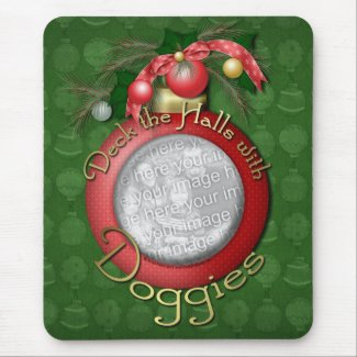 Christmas - Deck the Halls With Doggies mousepad