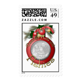 Christmas - Deck the Halls with Fishies Stamp