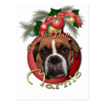 Christmas - Deck the Halls with Marnie Postcard