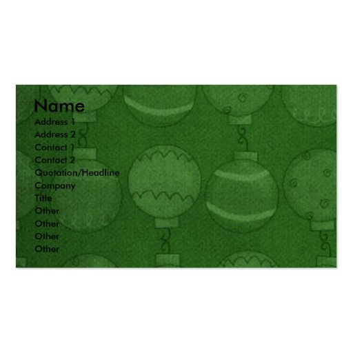 Christmas - Deck the Halls - Yorkies Double-Sided Standard Business Cards (Pack Of 100)