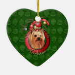 Christmas - Deck the Halls - Yorkshire Terrier Ornament