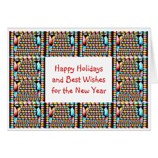 Christmas Deco Art : HappyHolidays Happy NewYear Greeting Card