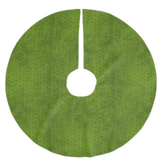 Christmas Deco - Green Geometric Chenille Texture Brushed Polyester Tree Skirt