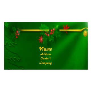 Christmas Deco Profile Card Double-Sided Standard Business Cards (Pack Of 100)