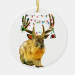Christmas Decorated Jackalope Christmas Tree Ornaments