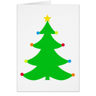 Christmas Decorated Tree Greeting Card
