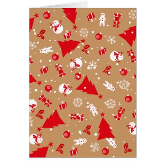Christmas decoration and ornaments pattern card