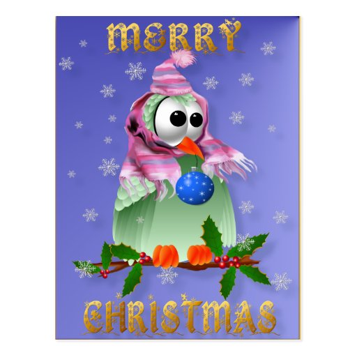 Christmas Decoration Bird Postcard