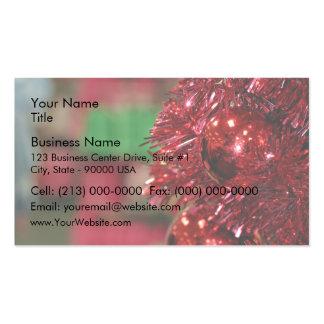 Christmas decoration business card templates