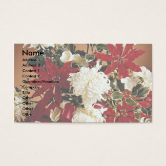 Christmas decoration flowers business card