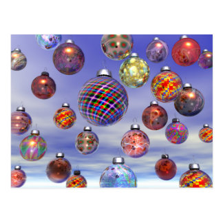 Christmas Decoration Group Postcard