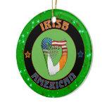 Christmas Decoration Irish American Harp Design
