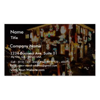 Christmas Decoration On One House Business Card Template