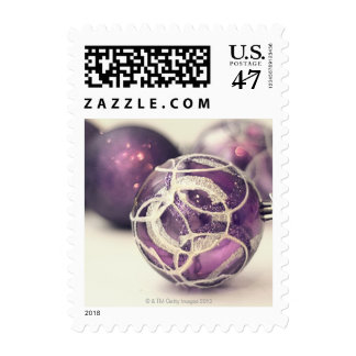 Christmas decoration on white surface postage