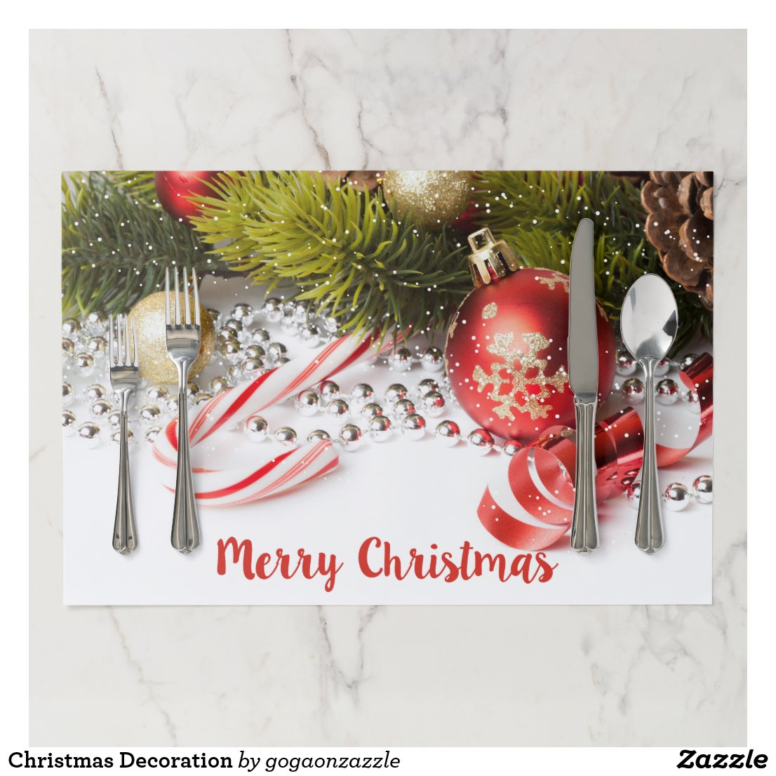 Christmas Decoration Paper Placemat