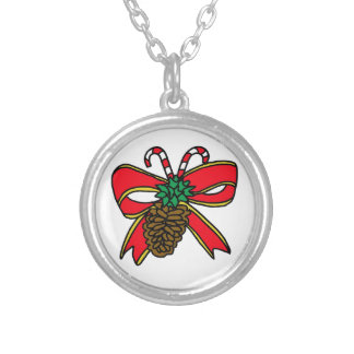 Christmas Decoration Silver Plated Necklace