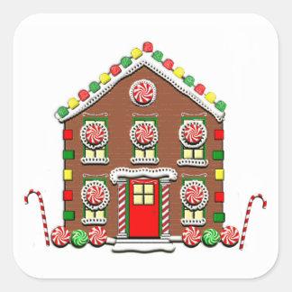 Christmas decoration square sticker