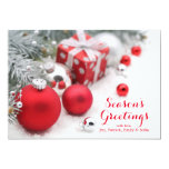 Christmas Decoration With Fir Branch 5x7 Paper Invitation Card
