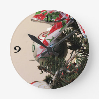 Christmas Decorations 1 Round Wall Clock