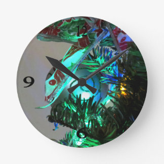 Christmas Decorations 2 Round Wall Clock