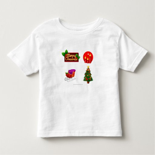 Christmas decorations against white background shirts