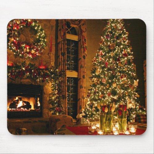 Christmas decorations - christmas tree mouse pad
