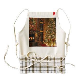 Christmas decorations - christmas tree zazzle HEART apron