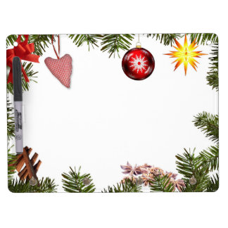 Christmas decorations dry erase board with keychain holder
