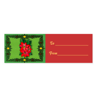 Christmas Decorations Gift Tag Double-Sided Mini Business Cards (Pack Of 20)