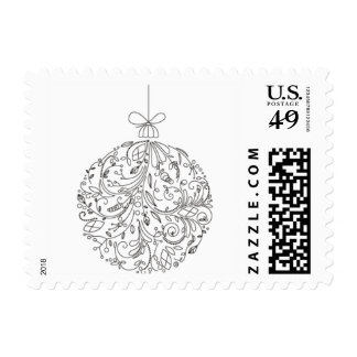 Christmas Decorations Holiday Postage Stamps