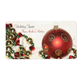 Christmas Decorations Kitchen Treat Baking Label Shipping Label